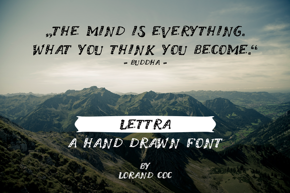LETTRA A Hand Drawn Font