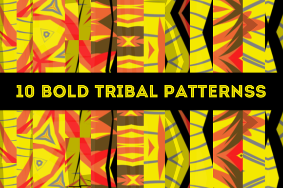10 Bold Tribal Vector Patterns