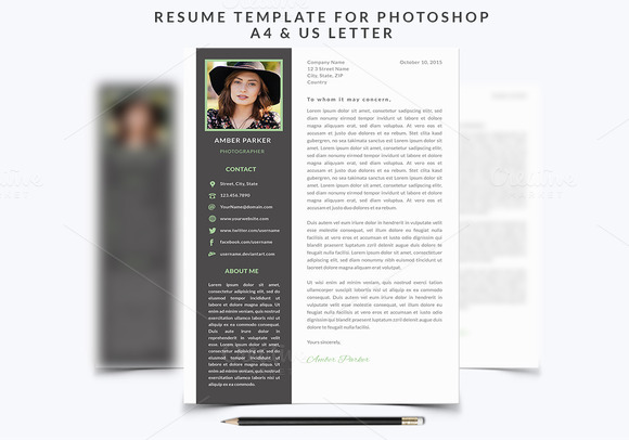 Resume Template 002 For Photoshop