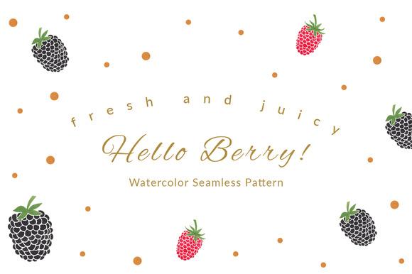 Hello Berry Seamless Pattern