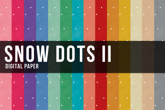 MORE 14 Snow Dots II Digital Paper