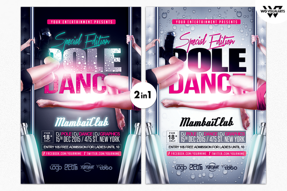 POLE DANCE Flyer Template