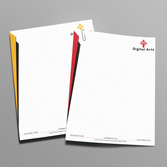 Digital Arts Modern Letterhead
