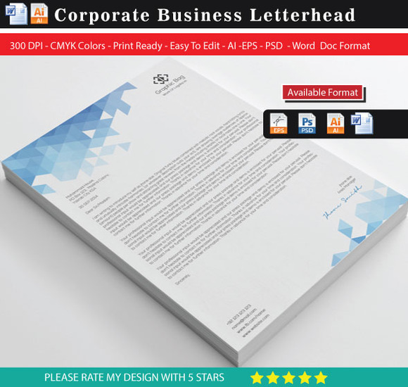 Multipurpose Corporate Letterhead 2