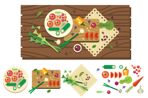 Dining Table With Vegetables
