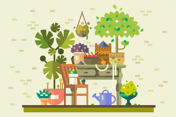 Gathering Of Vegetables And Fruits
