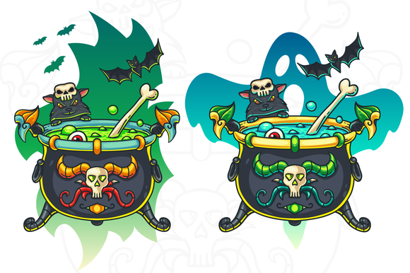 Halloween Cauldron Illustration