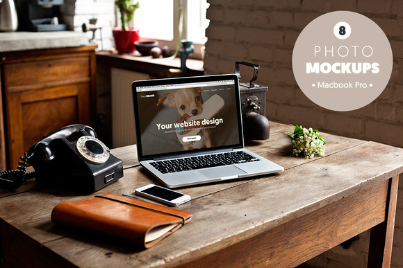 Macbook Retro Vol 2 8 Mockups