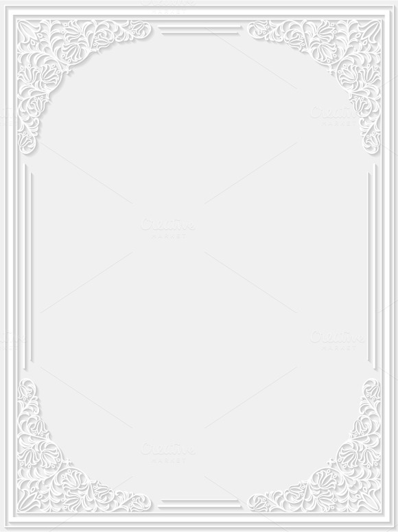 Set Of Decorative Floral Frames