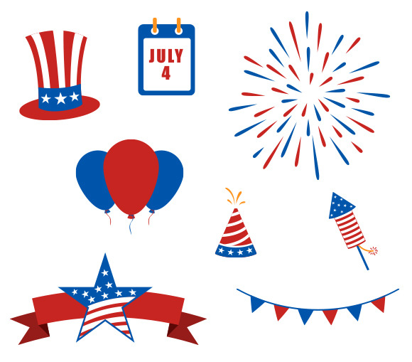 July 4th Vector Elements
