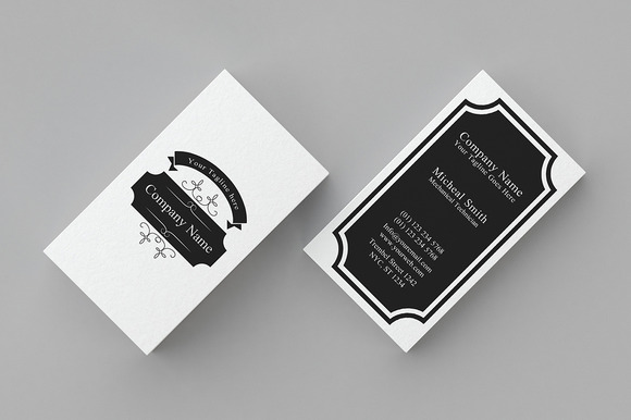 Minimal Vintage Business Card 1