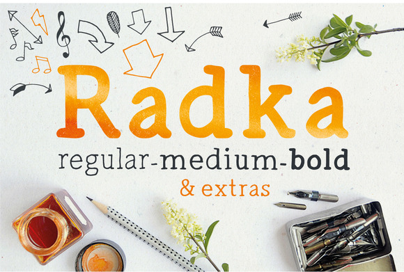 Radka Handmade Font Family Extras