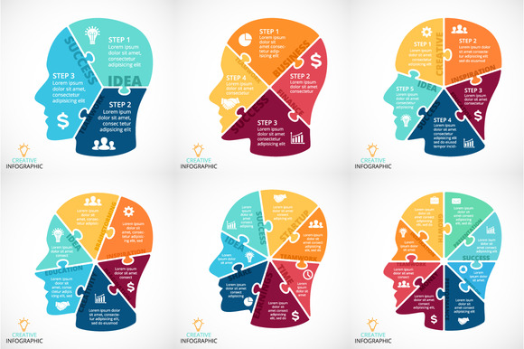 6 Infographics With Human Face