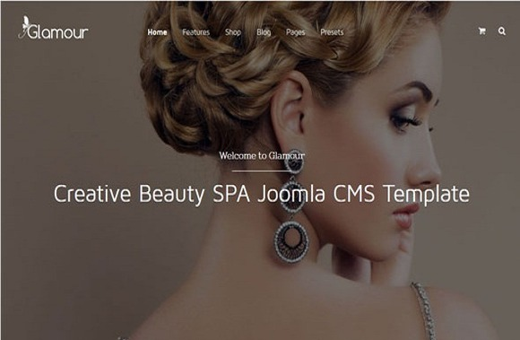 GLAMOUR FASHION BEAUTY TEMPLATE