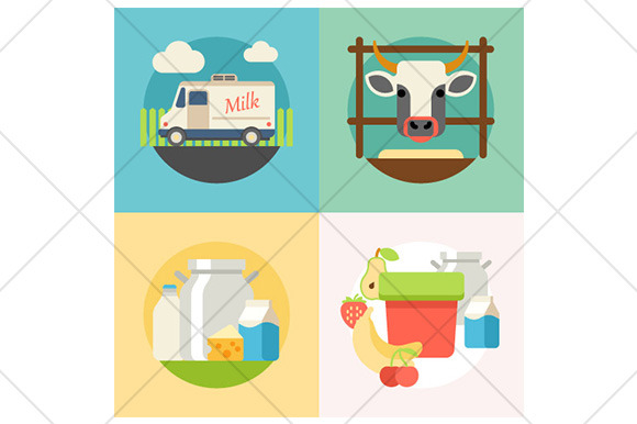 Milk Flat Illustration