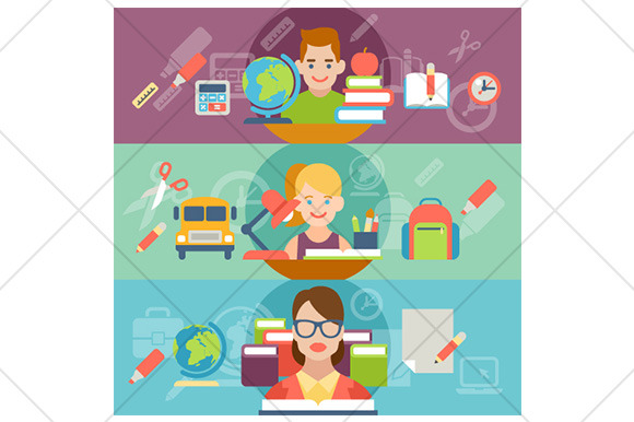 Education Flat Illustration