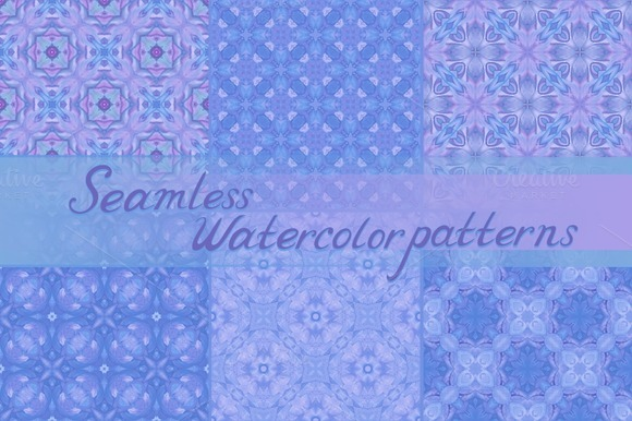 Violet Seamless Watercolor Patterns