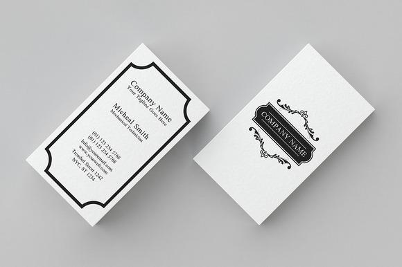 Minimal Vintage Business Card 2