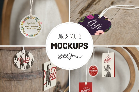 Label Mockups Vol 1