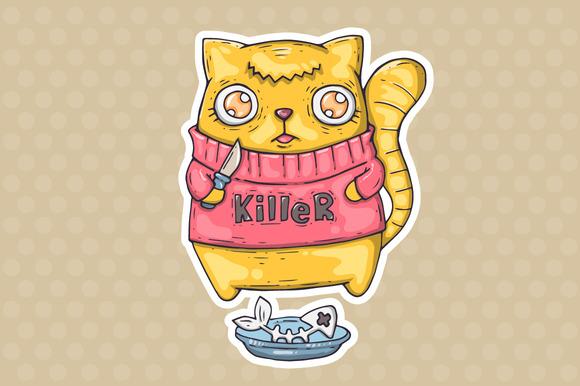 Cartoon Killer Cat