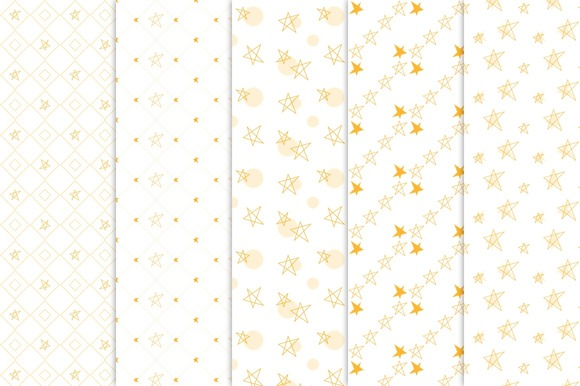 Little Star Seamless Patterns