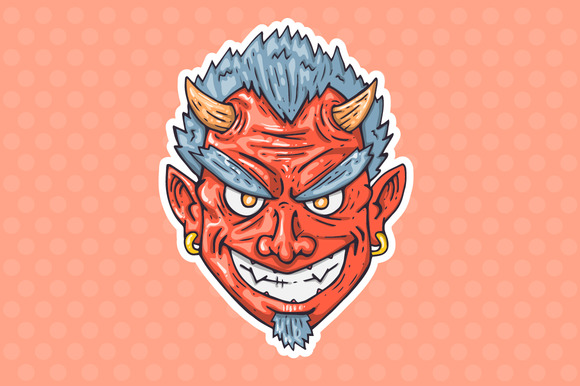 Cartoon Devil Head