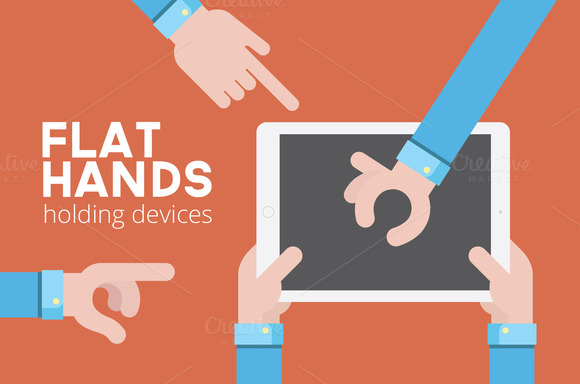 Flat Hands Holding Devices
