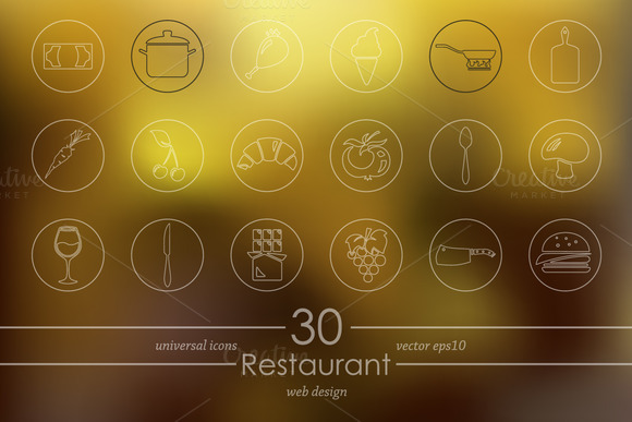 30 Restaurant Icons
