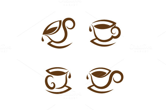 Coffee Cup Iocn Set