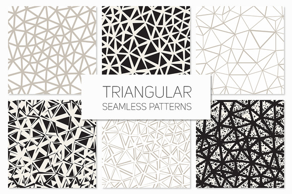 Triangular Seamless Patterns Set 4