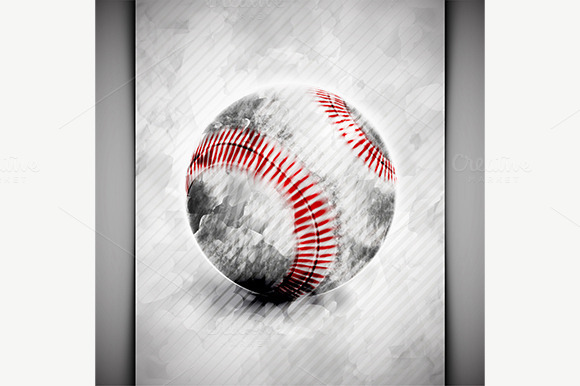 Baseball Ball Watercolor