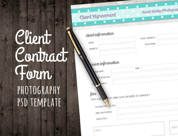 Client Agreement Contract Form PSD