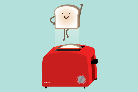 Toaster Superbread Vector
