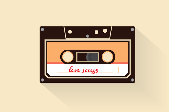 Love Songs Cassette Vector