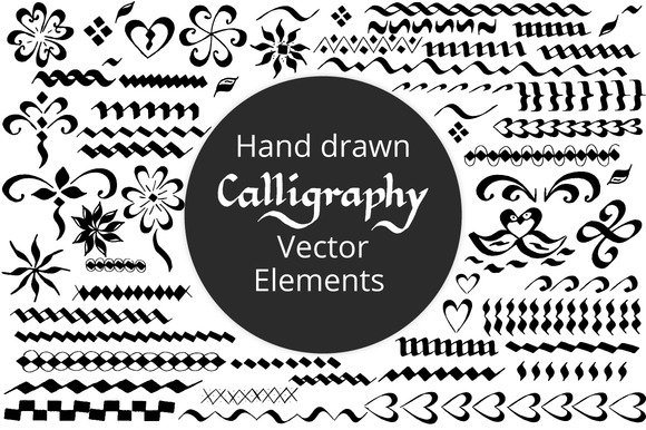 Hand Drawn Calligraphy Elements