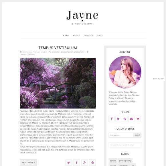 Responsive Blogger Template Jayne