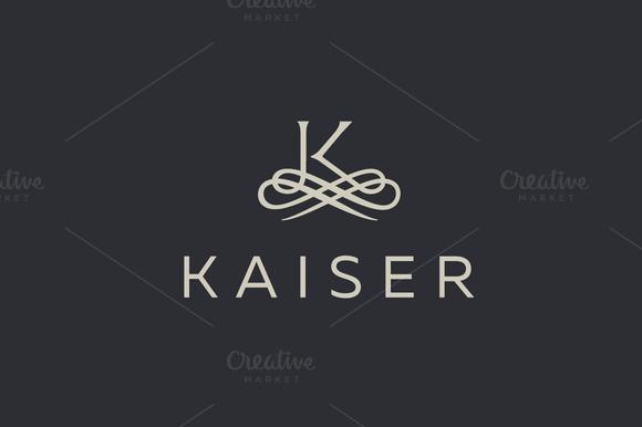Premium Letter K Elegant Monogram