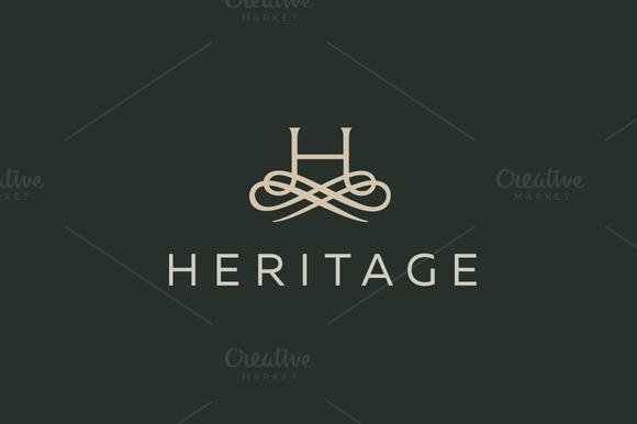 Premium Letter H Elegant Monogram