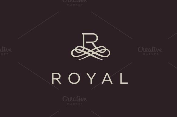 Premium Letter R Elegant Monogram