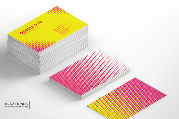 Halftone POP Business Card Templates