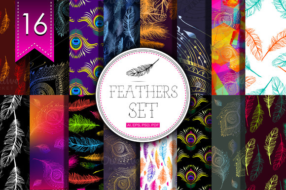 16 Feathers Set