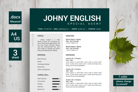 Modern English Resumes CV
