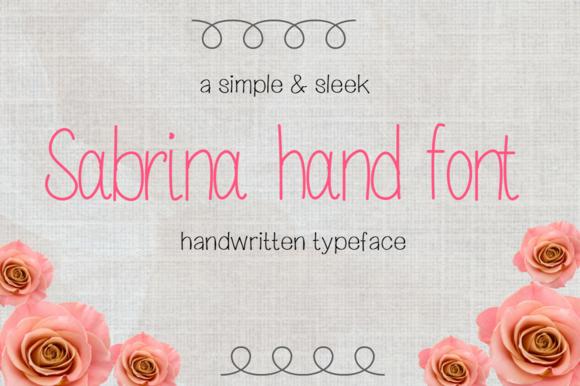 Sabrina Hand Font