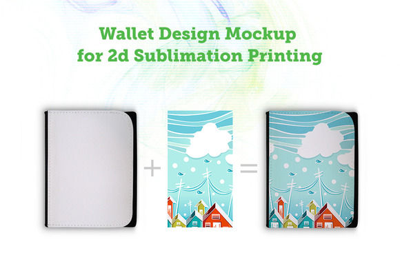 Sublimation Printed Wallet Mockup