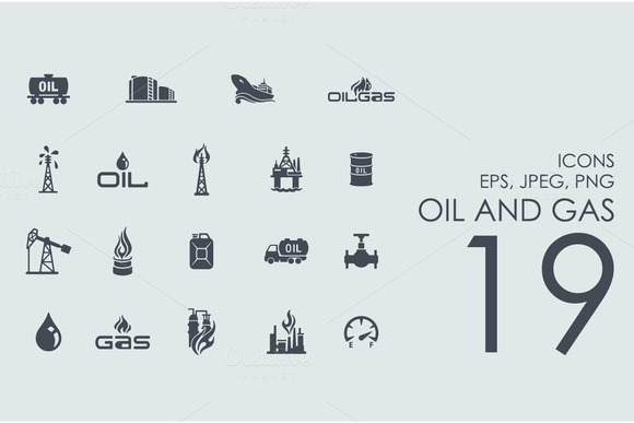 19 Oil And Gas Icons