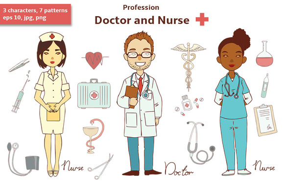 Profession Doctor And Nurse