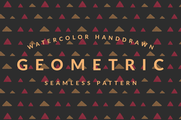 Geometric Watercolor Pattern Pack
