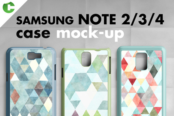 Samsung Note 2 3 4 Cases Mock-up