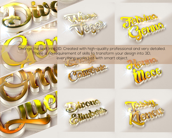 10 3D Text Effects
