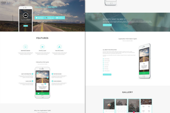 Infinity Mobile App HTML5 Template